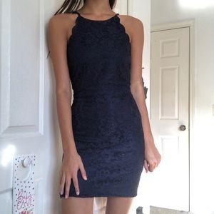 Lace Navy Bodycon Dress